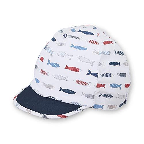 Sterntaler Schirmmütze für Jungen mit Fisch-Motiv, Alter: 9-12 Monate, Größe: 47, Weiß