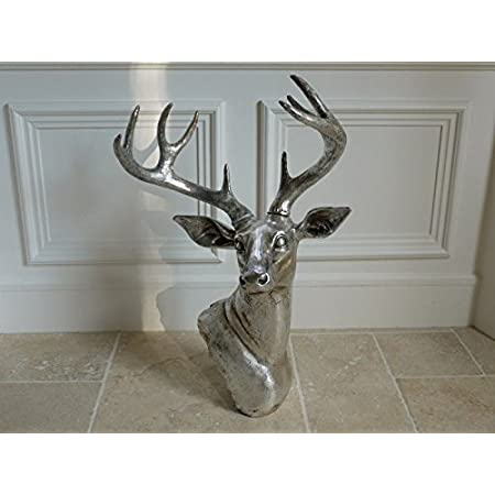 STAG TROPHY HEAD GEM ENCRUSTED HANG//WALL MOUNT GIFT quirky 32x13x11.5cm