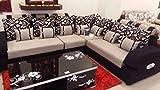 rehmans Corner Sofa Set (Black)