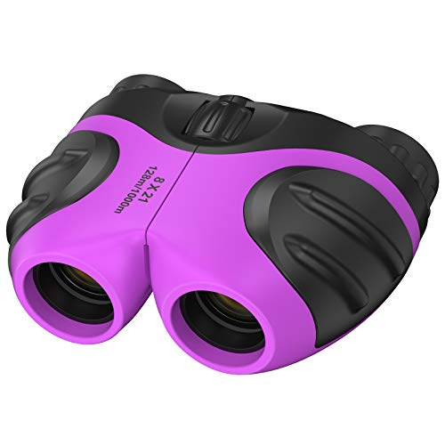 dmazing Binoculars for Kids Toys, Explorer Toys for Kids 5-7 Outdoor Play Toys for Boys Girls 3 Year Old Boy Easter Birthday Gifts Outdoor Toys for Kids Ages 4-8 Purple