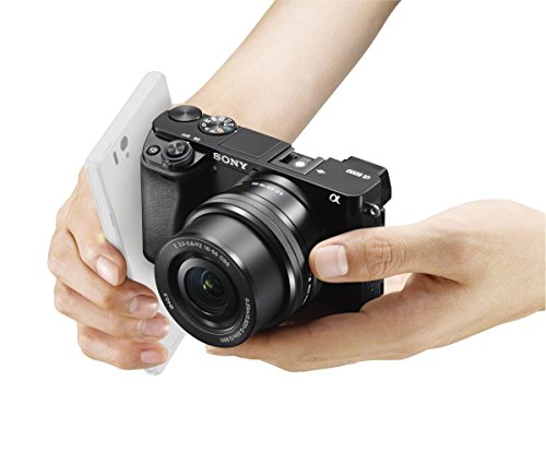 Sony A6000 Interchangeable Lens Digital Camera with SELP1650 Lens Kit - Black (24.3MP)