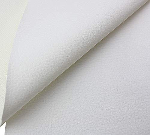 Tukan-tex Kunstleder Möbel Textil Meterware Polster Stoff PVC (Weiß)
