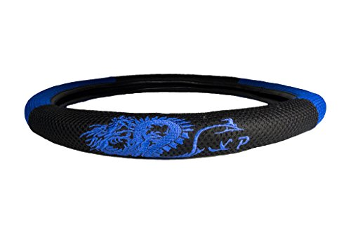 CLA Dragon Mesh Steering Wheel Cover - Blue