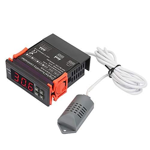 Controlador de humedad del aire, controlador de control de humedad del aire digital de 220 V, rango 1% -99% de humedad relativa, sensor tipo HM-40