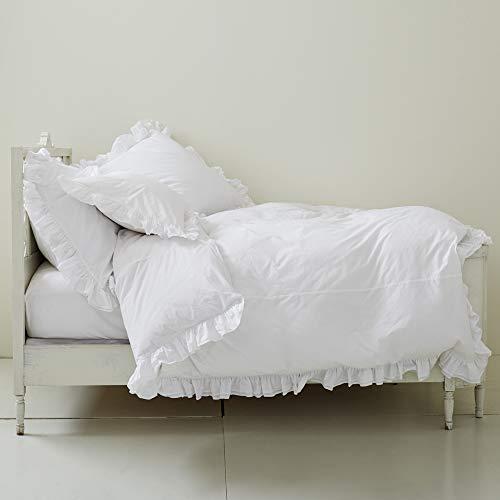 Rachel Ashwell Liliput Ruffle Duvet Cover, White, King
