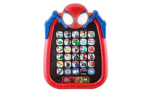 eKids Spidey and His Amazing Friends Kids Tablet for Preschool Learning, Toddler Tablet with Educational Games and ABC Learning for Toddlers Aged 3 and Up