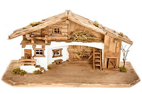 Holz und Gartentrends Große Weihnachtskrippe Bild