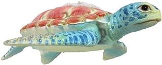 12月ダイヤモンドBlown Glass Embellished Sea Turtle Ornament 79–809265インチx 4.5インチAquaフリッパー