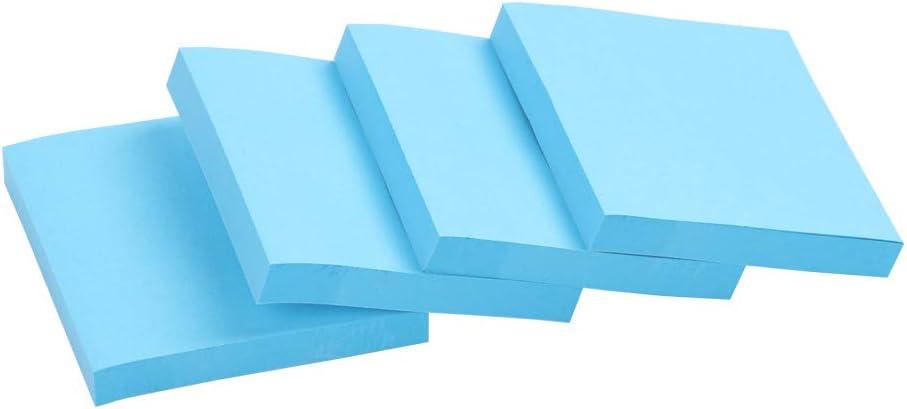 Eagle Haftnotizen 7,6 x 7,6 cm 100 Blatt 4 Bl/öcke blau