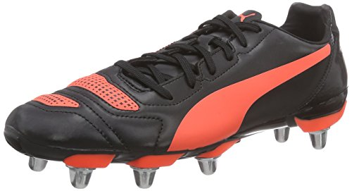 Puma Herren evoPOWER 4.2 Rugby H8 Rugbyschuhe, Schwarz (black-white-lava blast 01), 39