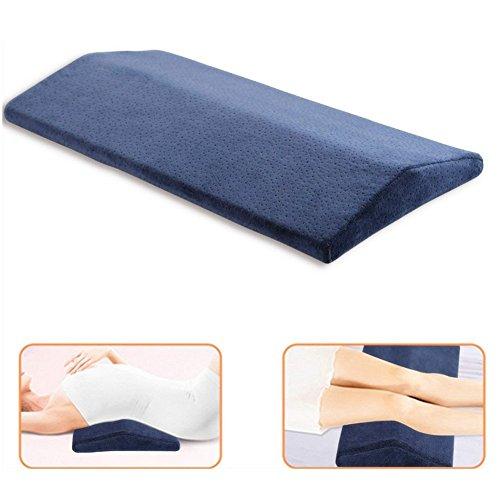 Almohada de apoyo lumbar, multifuncional, suave espuma viscoelástica, cojín de cintura triangular