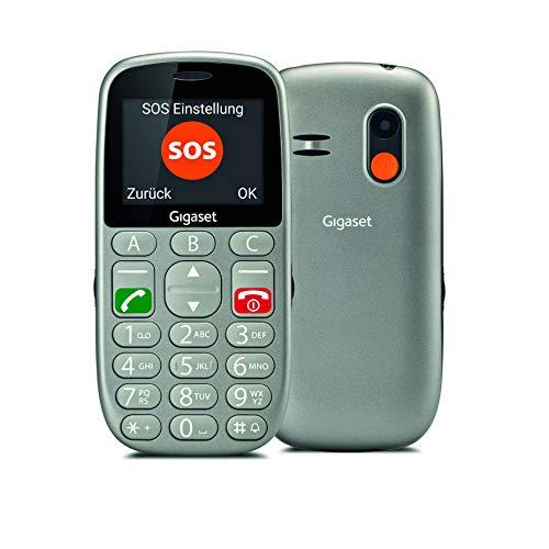 Gigaset GL390 - teléfono móvil para Mayores con Teclas Grandes - botón SOS 3 Llamadas directas - Máxima sencillez y Visibilidad.
