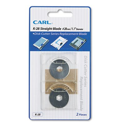 Carl Manufacturing Products - Replacement Straight Blade for DC-210/220, and 238, Silver - Sold as 1 PK - Replacement straight replacement blades are designed for use with Carl DC-210 12amp;quot;, DC-220 15amp;quot;, DC-238 18amp;quot; and DC-250 - 25amp;quot; Heavy-Duty Rotary Series Trimmers. Premium steel blades ensure a precise cut. Unique packaging allows you to change or replace blades without ever having to touch the sharp edge.
