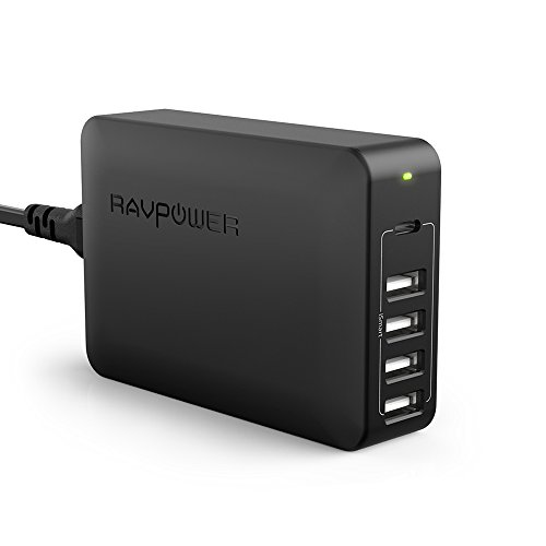 USB C Pd Charger, RAVPower 60W 5-Port USB Desktop Charging Station with 45W Power Delivery Port, Compatible with iPhone 11 Pro Max XR XS X SE 2, Ipad Pro 2018, MacBook, Galaxy S9 S8, Nintendo and More