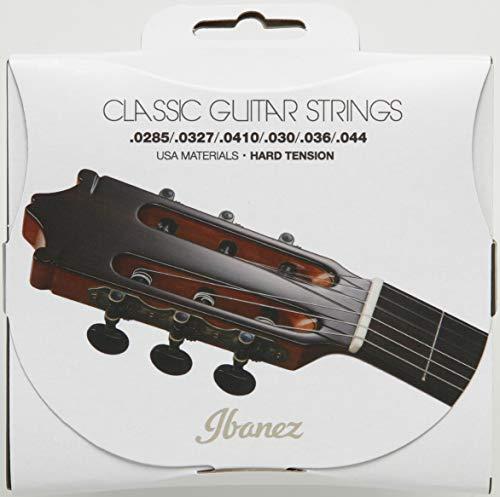 Ibanez ICLS6HT Hard Tension Clear Nylon/Silver Plated Wound .0285-.044 Saiten für Konzertgitarre