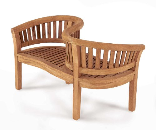 Jati Kissing Garden Love Seat – 2-Seater, Grade-A Teak, Delivered Ready Assembled