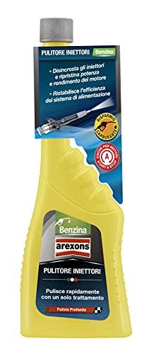 Arexons Additivo Benzina Pulitore Iniettori, 250 ml, Additivo Pulitore e Protettivo, Adatto per Motori Benzina, Protegge da Ruggine e Corrosioni, Migliora le Prestazioni del Motore