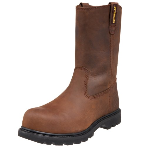 Caterpillar mens Revolver Pull-on Steel Toe Work Boot, Dark Brown, 9 M US