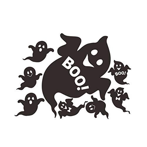 Nihlsfen 8 Little Ghosts Halloween Wandaufkleber Wohnzimmer Schlafzimmermöbel Hintergrundaufkleber Halloween Dekorationen