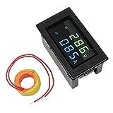 misuratore di corrente ca, zhiting 80-300v 100a multimetro digitale voltmetro, display lcd voltaggio rilevatore amperaggio volt amp tester monitor pannello misuratore con trasformatore di corrente ct