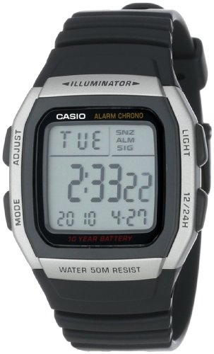 Casio Men's W96H-1AV Sport Watch with Black Band