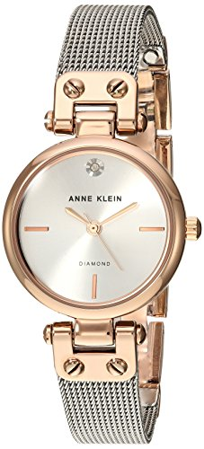 Anne Klein Women's Quartz Metal and Stainless Steel Dress Watch, Color:Silver-Toned
