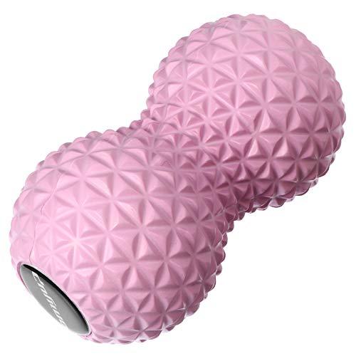 Artibetter Bola de Masaje en Forma de Cacahuete Doble Lacrosse Yoga Pelota de Fitness para La Espalda Pie Cuello Columna Hombro Tejido Gatillo Terapia de Punto