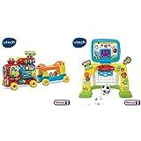 VTech - 181905 - Porteur - Maxi Trotti Loco 5 en 1 & Bébé Multisport interactif, Jeu éducatif bébé, Centre de Sport éducatif