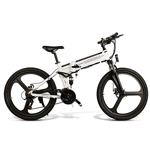 SAMEBIKE Plus E-Bike, E-MTB, E-Mountainbike 48V 10.4Ah 350W - 26-inch Folding Electric Mountain Bike 21-level Shift Assisted