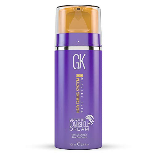 GK Hair Global Keratin Leave in Conditioner Cream 4.4 Fl Oz For Detangling Smoothing Strengthening Moisturizing & Frizz Control, Good For Dry Damaged Hair - Sulfate Free Color Safe For All Hair Types