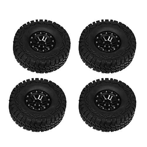 Pneus de esteira, pneus de carro RC Pneus de esteira RC, cubos de metal Pneus de borracha para carro de controle remoto Rc