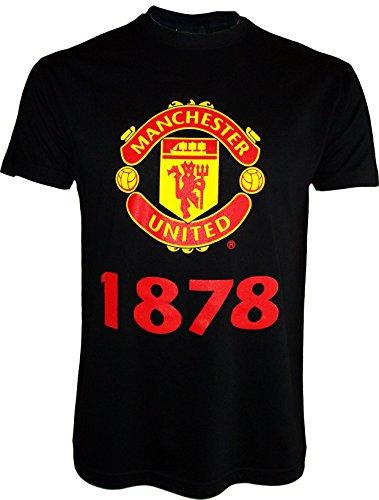 Manchester United–Camiseta oficialpara hombre, talla de adulto, Hombre, negro, small