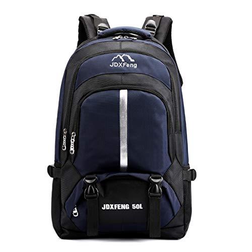 Rucksack Damen Herren, VECOLE Backpack Outdoor-Sportarten Wandern Camping Rucksack Große Kapazität Reisetasche Schultasche Campus Studententasche für Universität/Arbeit/Reise(Dunkelblau)