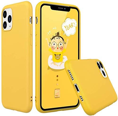 Wephone Accesorios Funda TPU Goma Pastel Suave para Samsung Galaxy (A40, Amarillo)
