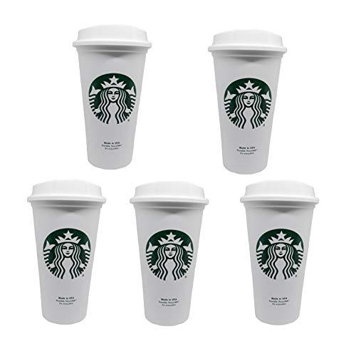 Starbucks Wiederverwendbarer Reisebecher für unterwegs, 473 ml, 5 Stück