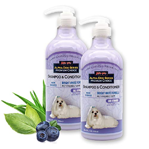 Alpha Dog Series Bright White Grooming Natural Dog...