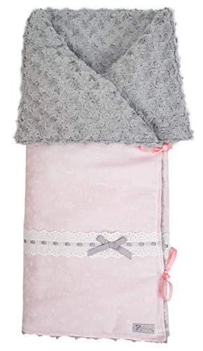 Saco arrullo invierno acolchado, relleno extraíble. Varios modelos y colores disponibles (Cachemir Rosa)