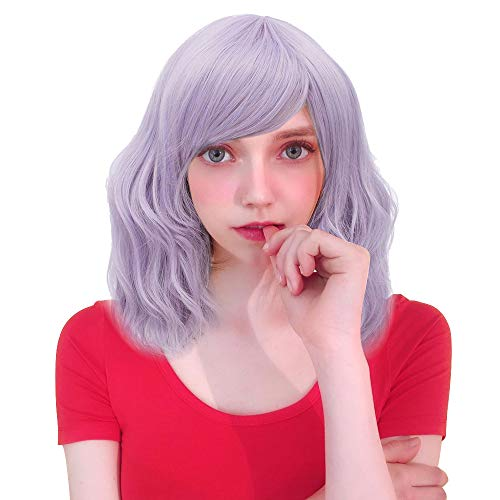 Probeauty Sweety Collection Lolita 40CM Short Curly Wig Fashion Women Cosplay Wig + Wig Cap (Pastel Purple F13A)