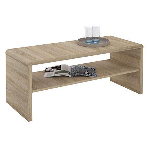CARO-Möbel TV Lowboard Couchtisch Fernsehtisch Lenni, in Sonoma Eiche, mit Ablagefach, 100 x 40 x 40 cm
