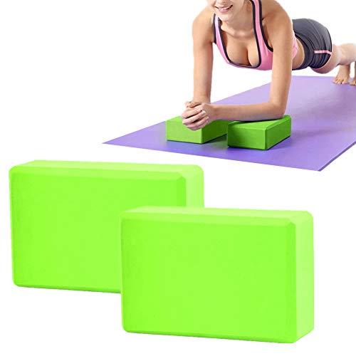 Yoga Bloque Ladrillos Yoga Yoga Conjunto Yoga Kit de iniciación Bloque de Yoga de Espuma De Espuma Yoga Bloques de Soporte Pilates Bloques Green,1pc