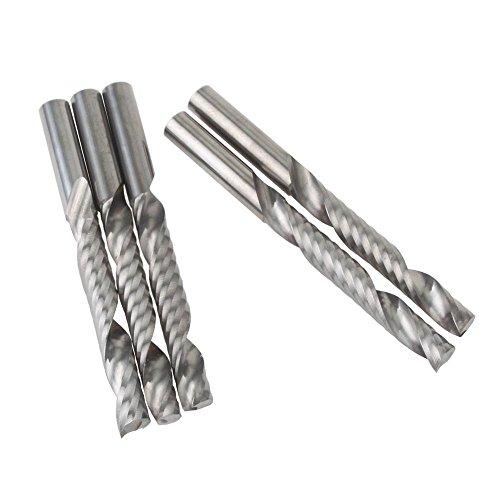 UE _ hozly 6x 42mm sola flauta cortadores de grabado CNC fresado herramientas para tallar madera brocas para taladro para cortar tablero DM acrílico Pack de 5