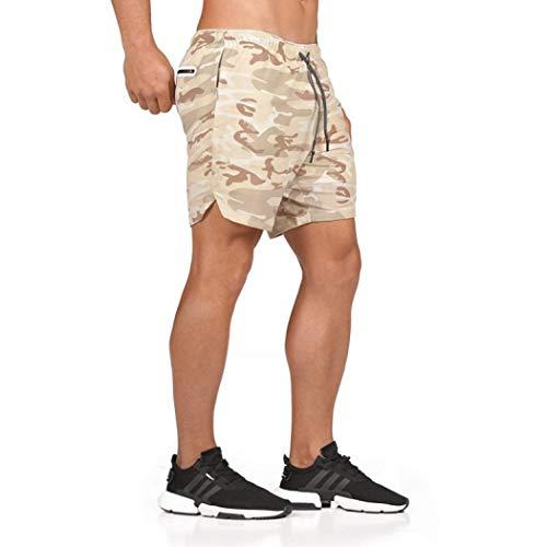 TOYIS Pantalones cortos de secado rápido para hombre, transpirables, ligeros, con bolsillos con cremallera