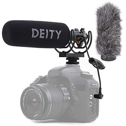 Deity V-Mic D3 Video Mic Micrófono con Pergear Deadcat Parabrisas, Adaptador De Zapato De Código, Para Cámaras Réflex Digitales, Videocámaras, Smartphones, Tabletas, Grabadoras Prácticas