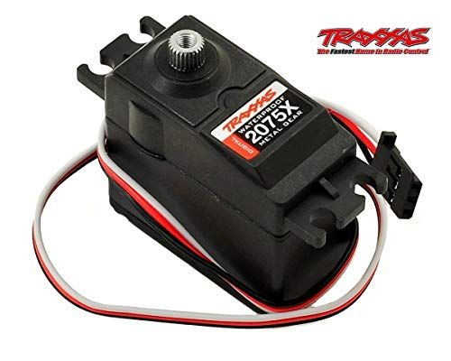 Traxxas 2075X Waterproof All Metal Gears and Ball Bearing Servo for 1/10 Scale Traxxas Cars, Black