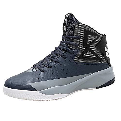 Sneaker da Uomo per l'allenamento delle Scarpe da Corsa per Lo Sci di Fondo Fitness per Il Tempo Libero Blu Scuro 42