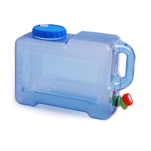 MORN Deposito Agua, Depósito De Agua Potable Portátil, Botella de Agua con Grifo, Recipiente de Almacenamiento de Agua con Barril Cuadrado para Vehículo de Camping al Aire Libre