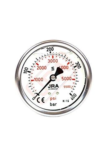"""JRA-Longlife Glyzerin Manometer 0-400 bar NG63 Anschluss hinten G1/4"""""""