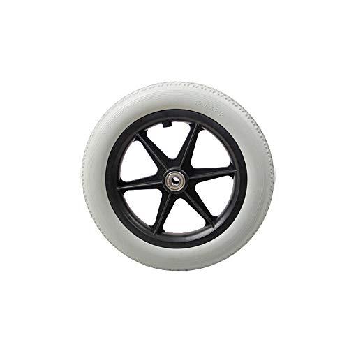 Caster Manual Wheelchair Rear Wheel Wheelchair Accessories Rear Wheel Replacement Wheelchair Wheel Grey Rubber Wheelchair Wheel 12 1/2x2 1/4