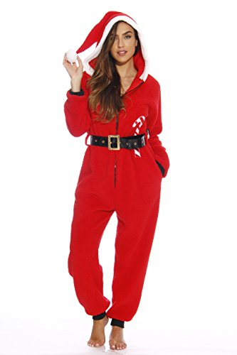 6412-XS Just Love Adult Onesie / Onesies / Pajamas/ Santa With Candy Cane/ X-Small