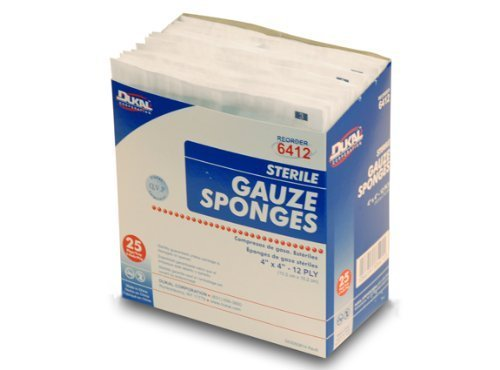 4' x 4' Gauze Sponges, Sterile - 1 Box (25pkgs of 2)